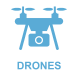 drone shop icon in blue