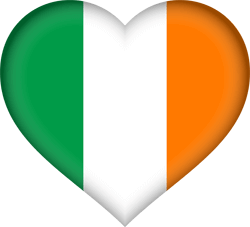 a heart in the colour of an irish flag