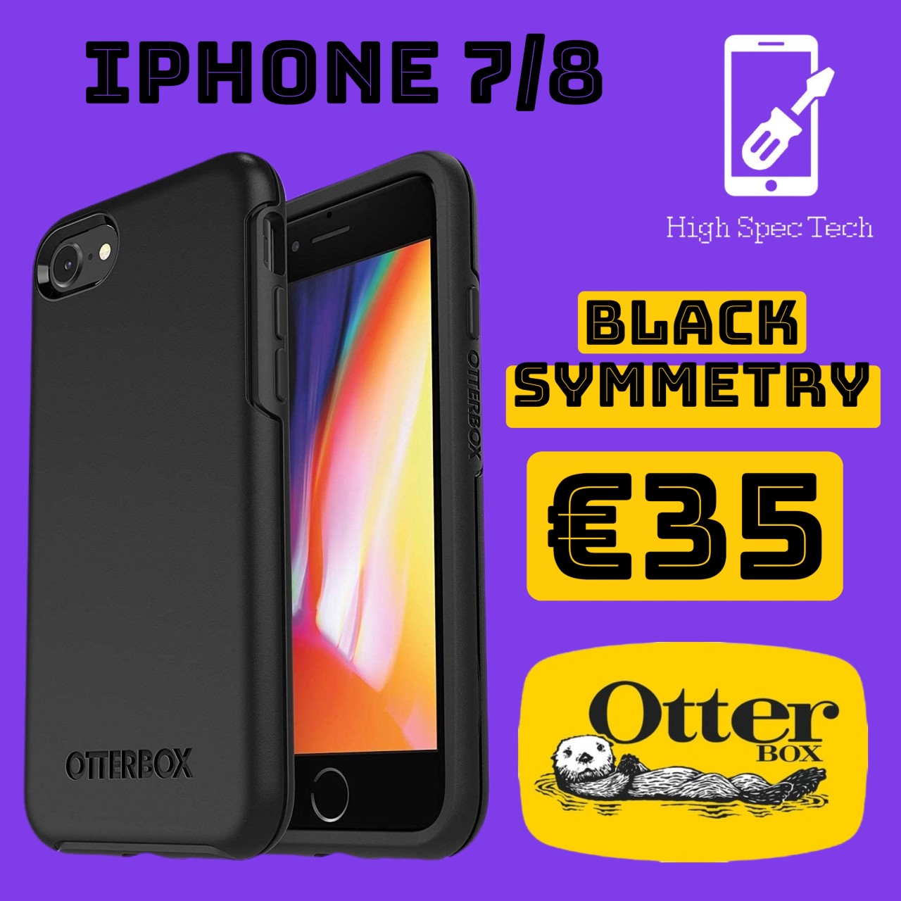 iphone 7/8 otterbox symmetry black